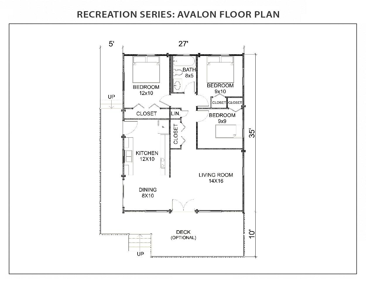 Avalon Floor Plan Recreation Series Ihc